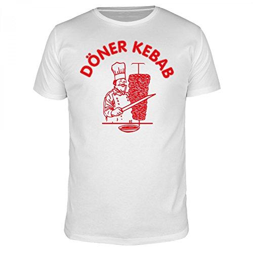 FABTEE - Döner Kebab - Herren T-Shirt Größen S-3XL, Größe:L, Farbe:Weiß