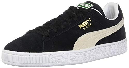 Puma Suede Classic Herren Sneaker,Schwarz, Weiß, 44.5 EU