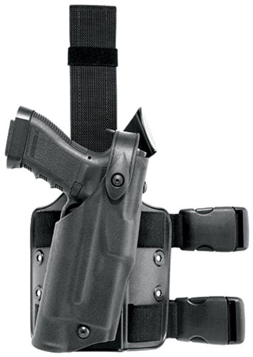 Safariland 6304 ALS Tactical Leg Holster, Black, Left Hand, Glock 17/22 with ITI M3