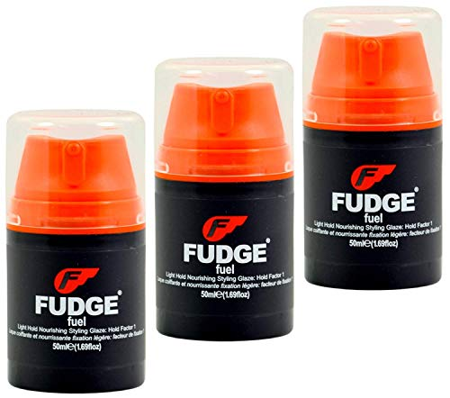 3x Fudge Fuel 50ml - Light Hold Nourishing Styling Glaze: Hold Factor 1 by Fudge