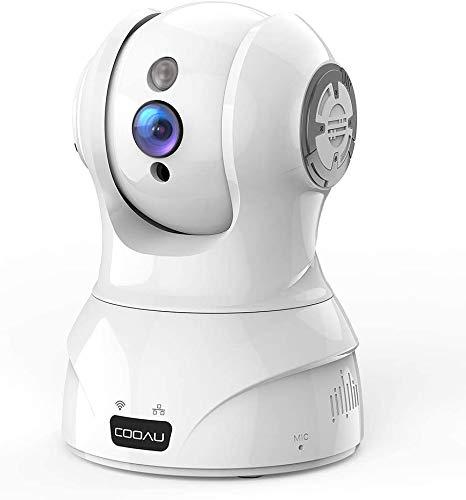 COOAU ネットワークカメラ 300万画素 監視防犯IPカメラ ベビーモニター ペットカメラ WiFi強化 スマホ遠...