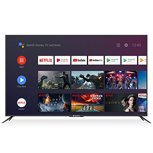 SANSUI 75 Inch 4K Ultra HD Smart Android DLED TV HDR with Dolby Sound,Voice Remote Flat Screen Television (ES75E1A 2020 Model)…
