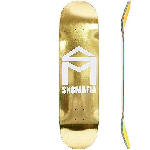 (7プライ 8.25インチ)スケートマフィア SK8MAFIA スケボー デッキ HOUSE LOGO GOLD FOIL DECK NO123