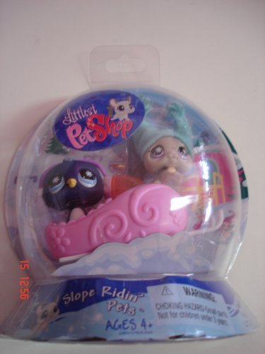 Littlest Pet Shop Exclusive Chilliest Pet Pair Slope Ridin' Pets (Chinchilla and Penguin) by Hasbro