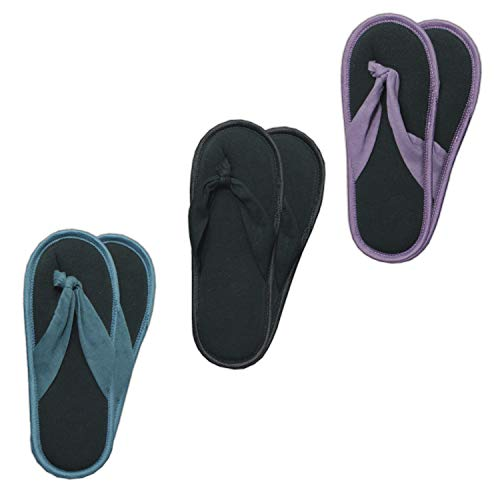 GAWILO 3 Paar rutschfeste Damen Stoppersocken als Zehentrenner – ABS Socken – Haussocken – Hausschuhe – ideal für den Sommer (35-38, farbig 1)