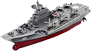 Winsopee Challenger AiRCraft carrier RC Boat toy - 6 Years & Above (Red/Silver),2724652033909