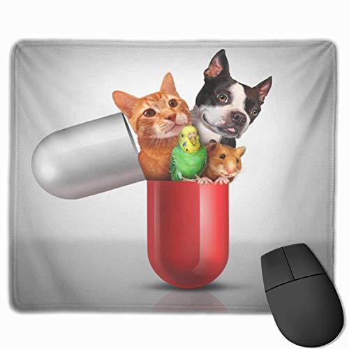 Söt spelmusmatta, skrivbordsmusmatta, liten musmatta för bärbara datorer, musmatta husdjursmedicin och djurrecept läkemedel som veterinär läkemedelsbehandling