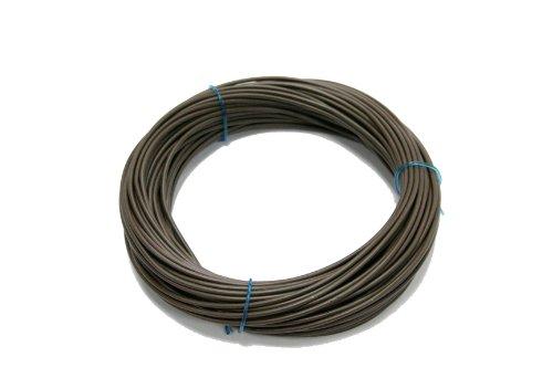 as - Schwabe Flexible Aderleitung Installationsleitung – 100 m Verdrahtungs-Leitung glatt abgeschnitten – Einzelader H05V-K 1,0 für den Innenbereich DIY – IP20 – Braun I 57529, Meter