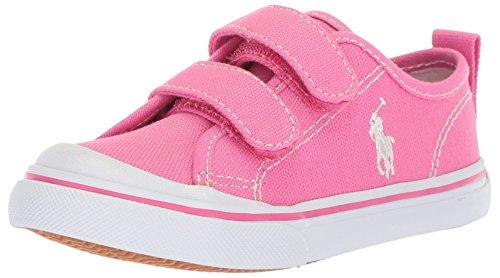 Polo Ralph Lauren Kids Girls' Karlen EZ Sneaker, Baja Pink, 5 Medium US Toddler