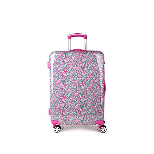 Gabol - Cherry | Maletas de Viaje Medianas Duras de 44 x 64 x 25 cm con Capacidad para 55 L de Estampado Floral