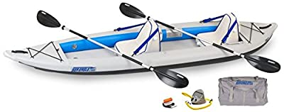 """385FTK_D Sea Eagle Fast Track Inflatable Kayak with Deluxe Accessory Package, 12' x 6"""" by SeaEagle"""