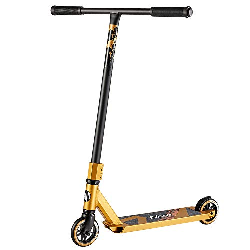 Albott Stunt Scooter Sports Pro Scooter BOLTC200 Stunt Trick Push Scooter- 360 Grad Steet Fixed Bar Trickscooter, Freestyle-Roller,Funscooter für Kinder Erwachsene (Gold)