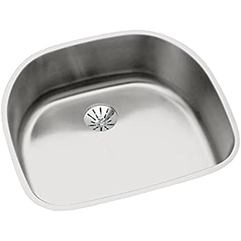 Elkay Lustertone ELUH2118PD Single Bowl Undermount Stainless Steel Sink with Perfect Drain