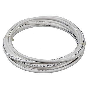 Vyair 10 Metres Tuyau de filtre pour l'alimentation en eau du compteur pour s'adapter aux réfrigérateurs doubles de style américain et européen (blanc) (tuyau de 1/4