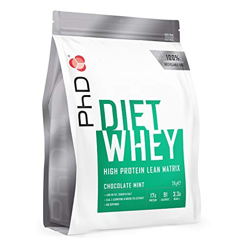 PhD Nutrition Diet Whey Protein Powder, Chocolate Mint, 2 kg