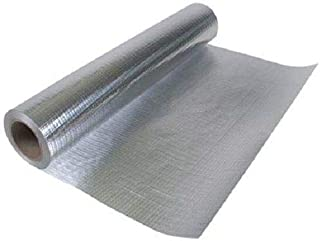 500 sqft (4ft x 125ft) of NASATECH Commercial Grade SOLID Non Perforated No Tear Green Energy Radiant Barrier Reflective Insulation Attic Foil Roof Attic House Wrap SCIF RIFD