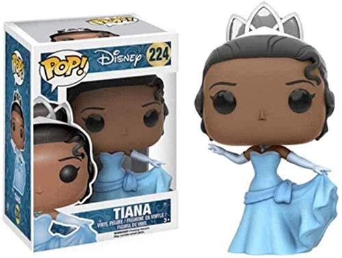 A-Generic Popular Disney: La Princesa y la Rana Personajes Princesa Tiana Figura Coleccionable Juguetes Populares Figuras Multicolores de 3 9 Pulgadas