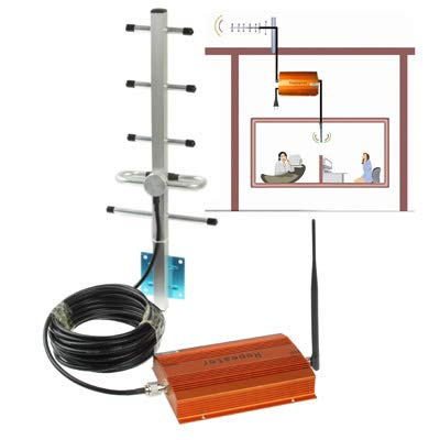 KINGONE Ruijuxing Cellular Phone Signaling Repeater Booster + Antenna (Coverage: 100 Foursquare Meters)
