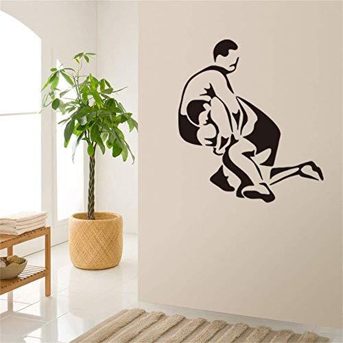New Wrestling Schlafzimmer Wohnzimmer Hintergrund Geschnitzte Wandaufkleber Wasserdicht Abnehmbare Aufkleber 60X90 Cm