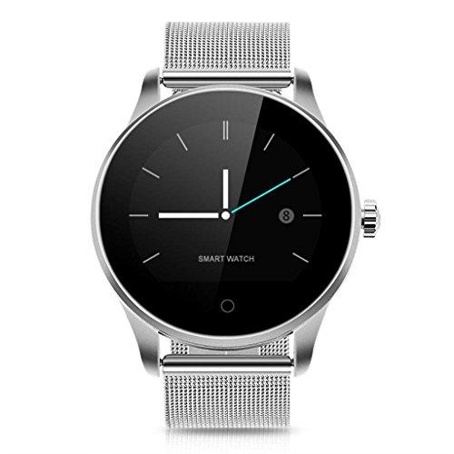 QAR Smart Watch K88H Ultradunne schijf hartslagbewaking slapen real-time stap mode smartwatch