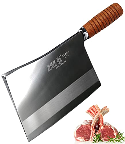 SELECT MASTER Super Heavy Duty Meat Cleaver Knife Butcher Cutlery Extreme Thick Heavy Blade for Big Bone and Frozen Meat,A17-1
