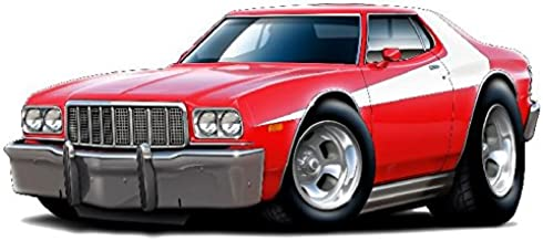 1976 Torino Starsky Car WALL DECAL Vintage 3D Car Movable Stickers Vinyl Wall Stickers for Kids Room
