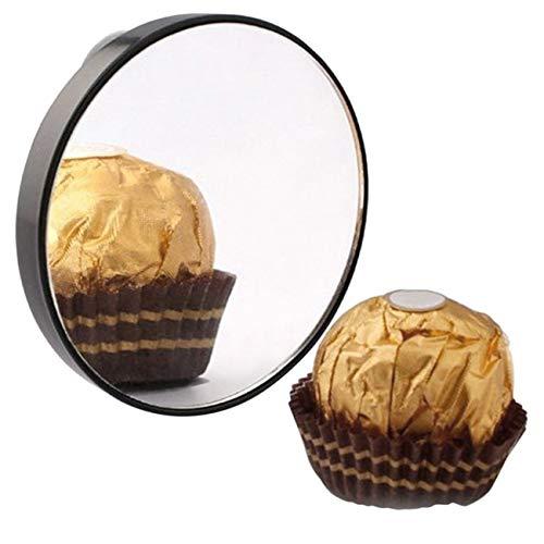 Miroir de maquillage vanité 5X 10 X 15 miroir grossissant avec deux ventouses cosmétiques outils mini miroir de salle de bain miroir rond - noir