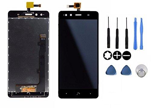 Theoutlettablet® Pantalla LCD Completa capacitiva con tactil digitalizador para Bq Aquaris X5 + Herramientas - Color Negro