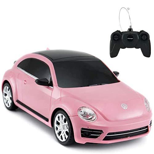 Rastar ferngesteuerter Volkswagen Käfer, Maßstab 1:24, Kinder ferngesteuertes Rennauto, rosa Spielzeugauto für Kinder / Mädchen / Kleinkinder