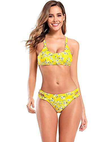 SHEKINI Women's Sport Bikini Cheeky Cutout Swim...