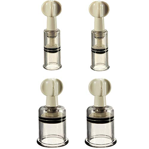 4 Stück Nippel Vakuum Twist Rotary Cupping Sucker Erweiterung Saug-Vergrößerer