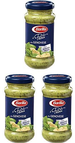 3x Barilla Pesti alla Genovese Italian Pesto Sauce for Pasta 190g Ready to Eat!