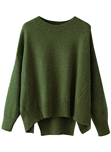 FUTURINO Damen Pullover Winter/Herbst Langarm Lose Oversize Basic Sweater