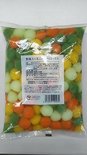 国産 野菜入り玉こんにゃくミックス 1�s(約125粒)×10P 業務用