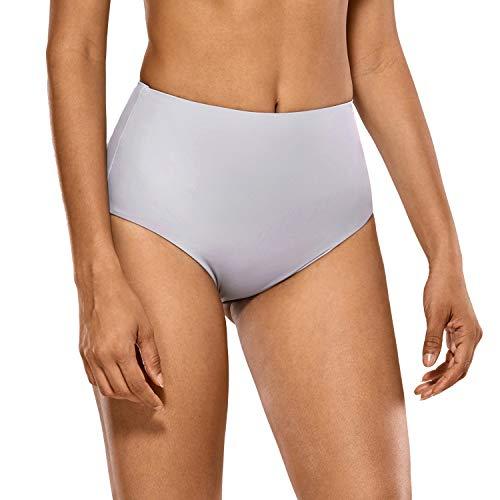 CRZ YOGA Bragas de Bikini de Cintura Alta Bañador Braguitas para Mujeres Piedra Lila 36