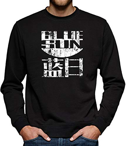 TShirt-People Firefly Blue Sun Sweat-Shirt pour Homme - Noir - Small