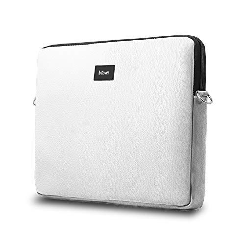 Funda De Portátil de 15,6 Pulgadas |funda Tablet| Maletín Impermeable para Ordenador PC | Calidad | Vegana | Bolsa Protectora | DELL ASUS Acer HP Lenovo (15,6 pulgadas, blanco)