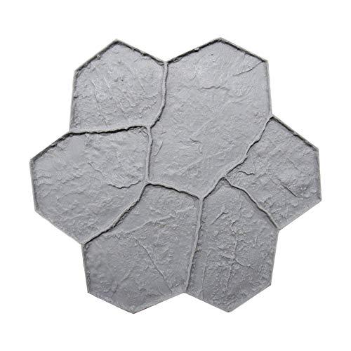 New Random Stone Concrete Stamp Single by Walttools | Decorative Stone Tile, Rotational Pattern, Sturdy Polyurethane Flexible Texturing Mat, Realistic Detail (Floppy)