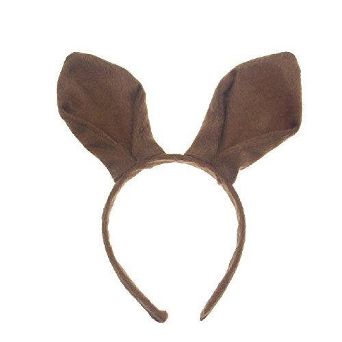 Pagreberya Bunny Ears Headband - Brown Bunny Ears - Rabbit Ears - Halloween Christmas Easter Party Costume