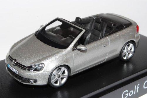 Schuco Volkwagen Golf VI 6 Cabrio Silber Grau Ab 2011 1/43 Modell Auto mit individiuellem Wunschkennzeichen