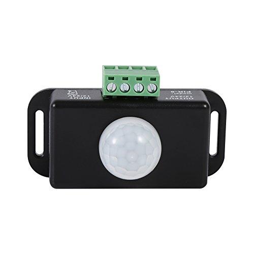 Interruptor Detector De Movimiento De Seguridad De CC, Interruptor Detector De Sensor PIR, Uso con Luces para Lámpara Incandescente del Módulo del Sensor De Luz LED