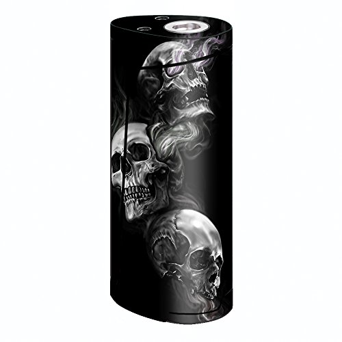 Skin Decal Vinyl Wrap for Smok Priv V8 60w Vape stickers skins cover/ glowing Skulls in Smoke