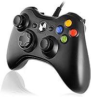 Diswoe Xbox 360 Mando de Gamepad, Controlador Mando USB de Xbox 360 con Vibración, Controlador de Gamepad para Xbox 360...