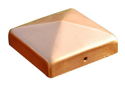 Pfostenkappen Kupfer Pyramide für Pfosten 14x14 cm, inkl. Kupfer-Nägel 141x141 mm