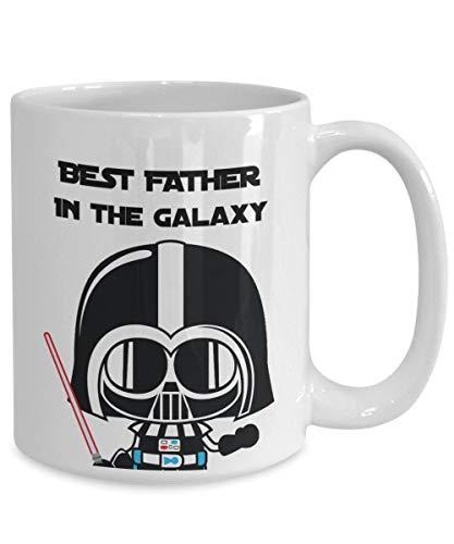 DKISEE Taza de té de café Darth Vader de Star Wars para papá. Taza de café única y tonta para el día del padre o cualquier día festivo.