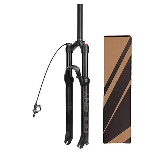 """ZPPZYE Horquillas MTB 26 27,5 29 Pulgadas, Ultraligero Aleación de Aluminio 1-1/8"""" Horquilla de Amortiguador Bici con Rebote 120 mm (Color : A, Size : 26 Inch)"""