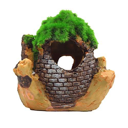 OMEM Reptiel Decoraties voor Terrarium Hides and Caves Habitat Decor Bevochtigd Habitat Aquarium Decoratieve Landscaping Kleine Dieren Reptielen benodigdheden Rivierkreeft Tank