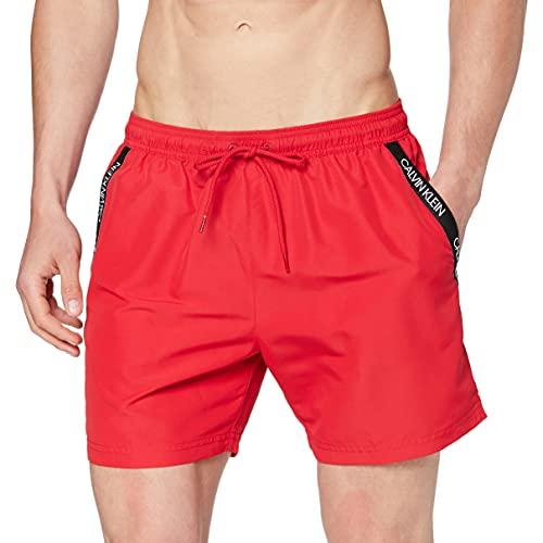 Calvin Klein Medium Drawstring Bañador de natación, Rojo (Lipstick Red 654), M para Hombre
