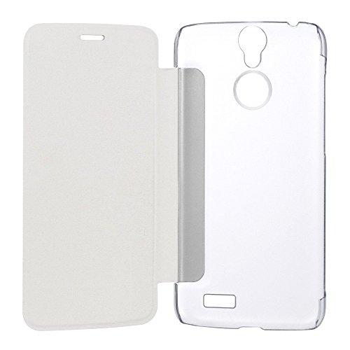 vernee Original Thor 4G Smartphone Pu Leder Kunstleder Flip Cover mit Plastik Etui Handy Tasche Hülle Case Handytasche Handyhülle Schutzhülle