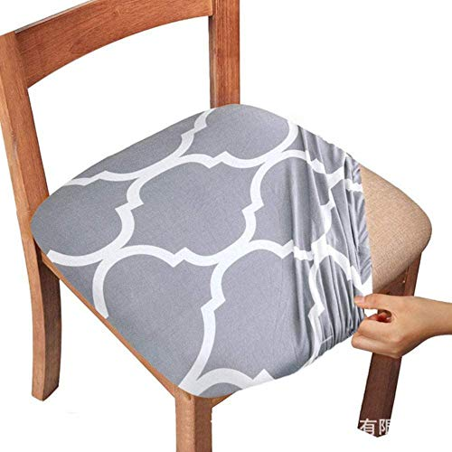 LLAAIT Stretch Elastic Dining Room Chair Seat Covers Universal Removable Washable Chair Cover Seat Cushion Slipcover